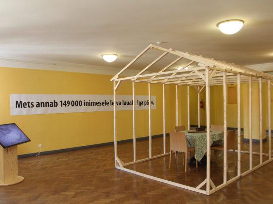 """Erik Konze installatsiooni """"Mets annab…"""" avamine III korruse kunstisaalis"""