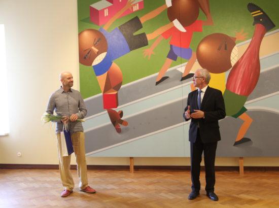 Kunstnik Kaido Ole kunstinäituse avamine Toompea lossi näituste saalis