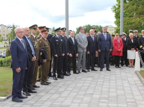 Riigikogu esimees Eiki Nestor osales võidupühaga seotud sündmustel Rakveres
