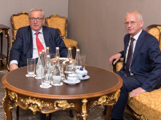 Euroopa Komisjoni president Jean-Claude Juncker ja Riigikogu esimees Eiki Nestor