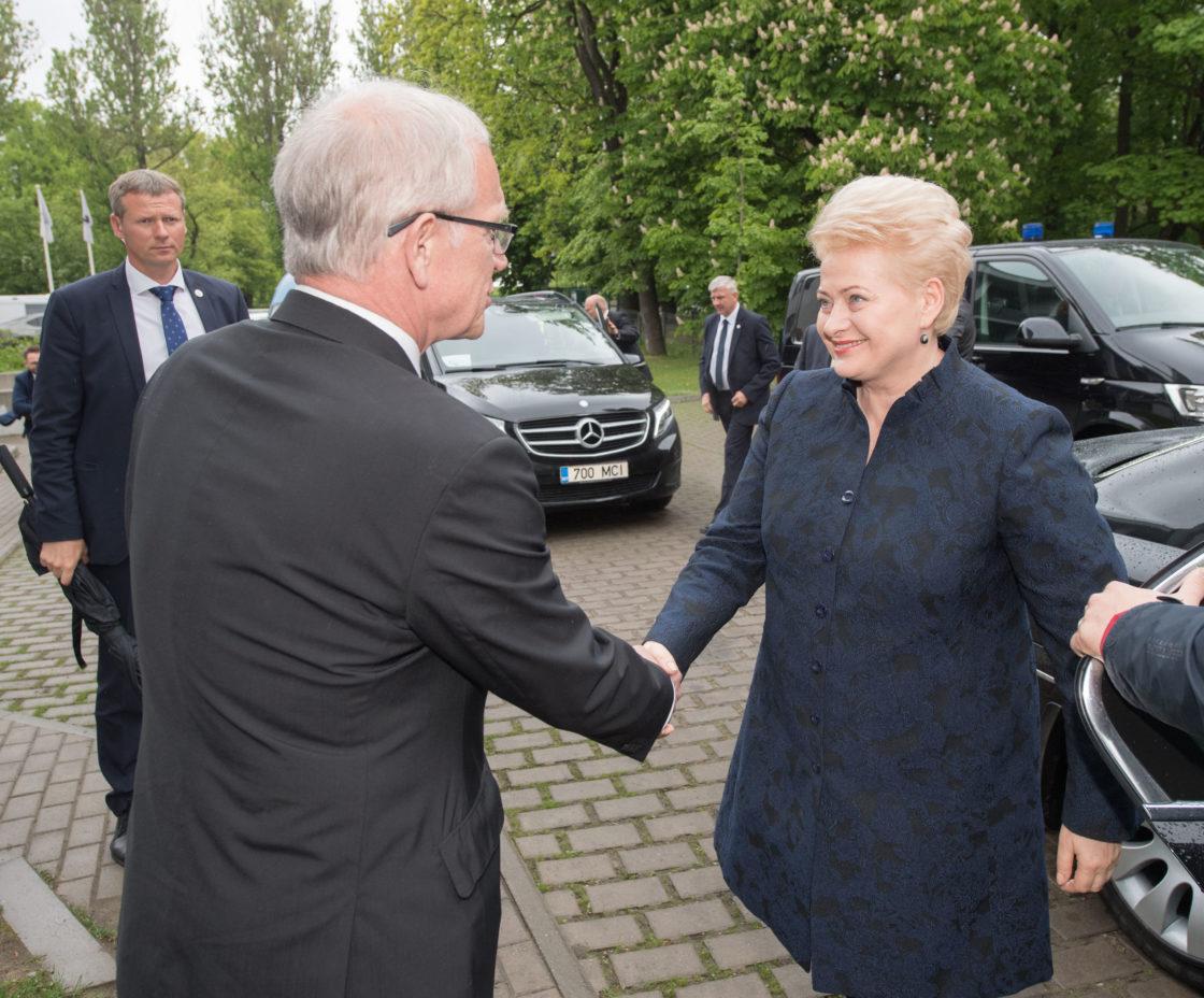 Riigikogu esimees Eiki Nestor kohtus Leedu presidendi Dalia Grybauskaitėga