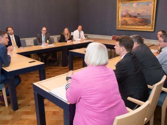 Riigikogu aseesimees Taavi Rõivas kohtus Saksamaa ja Austria vanemametnike delegatsiooniga