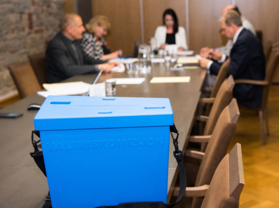 Korruptsioonivastase erikomisjoni esimehe ja aseesimehe valimine