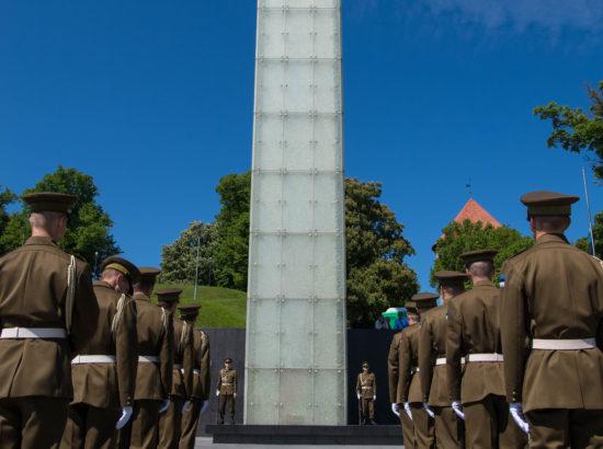 Juuniküüditamise mälestustseremoonia Vabaduse väljakul
