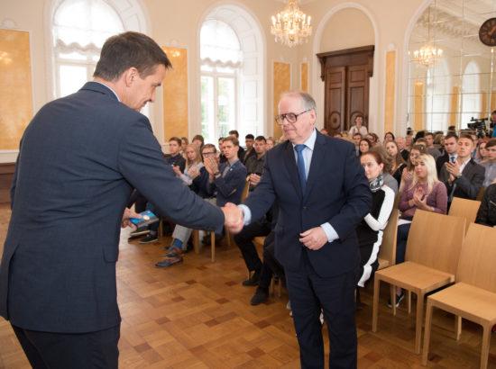 Eesti Panga president Ardo Hansson ja Riigikogu aseesimees Enn Eesmaa