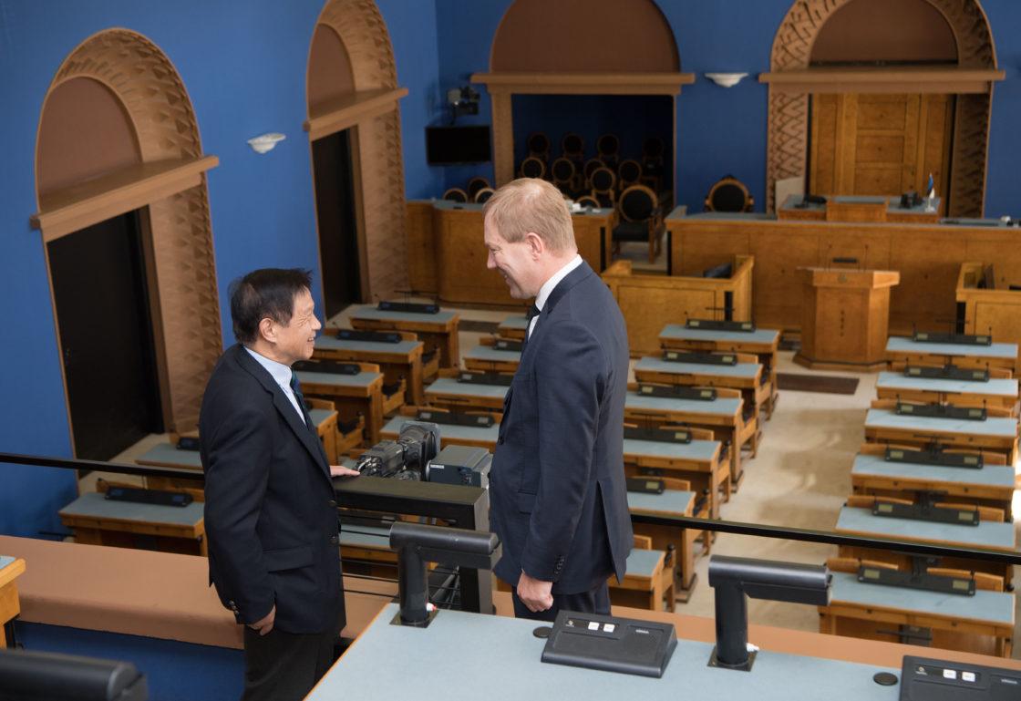 Väliskomisjoni esimees Marko Mihkelson kohtub Jaapani Esindajatekoja väliskomisjoni esimehe Norio Mitsuyaga
