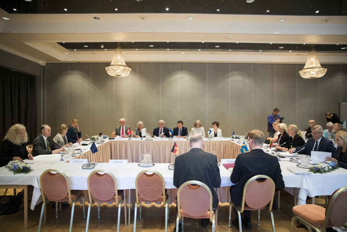 Riigikogu esimees Eiki Nestor Põhjamaade ja Balti riikide parlamentide esimeeste konverentsil Lillehammeris