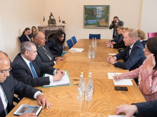 Väliskomisjoni esimees Marko Mihkelson kohtus Egiptuse välisministri Sameh Hassan Shoukryga