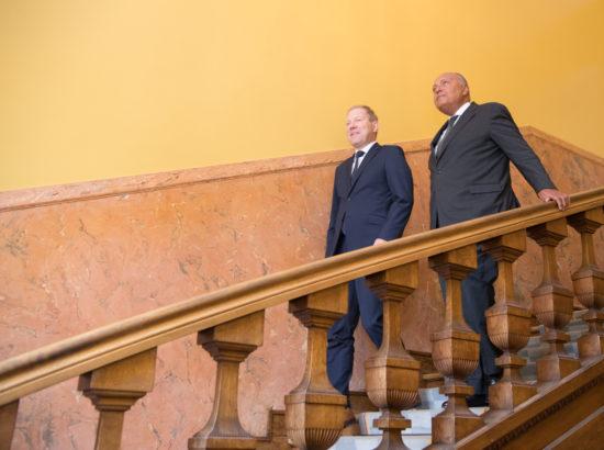 Väliskomisjoni esimees Marko Mihkelson ja Egiptuse välisminister Sameh Hassan Shoukry