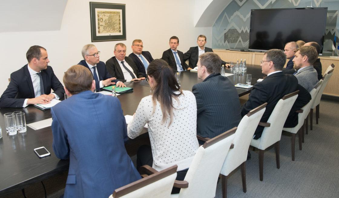 Euroopa Liidu asjade komisjoni, rahanduskomisjoni ja riigieelarve kontrolli erikomisjoni liikmed kohtusid Euroopa Kontrollikoja presidendi Klaus-Heiner Lehne ja Kontrollikoja liikme Juhan Partsiga