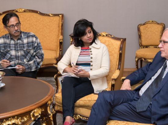 Riigikogu esimees Eiki Nestor kohtus arengumaade ajakirjanike koolitusprojekti raames India IT- ja majandusajakirjanikega