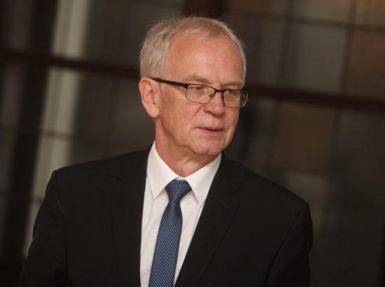 Riigikogu esimees Eiki Nestor kohtus Ljubljana linnapeaga
