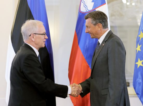 Riigikogu esimees Eiki Nestor kohtus Sloveenia presidendiga Borut Pahoriga