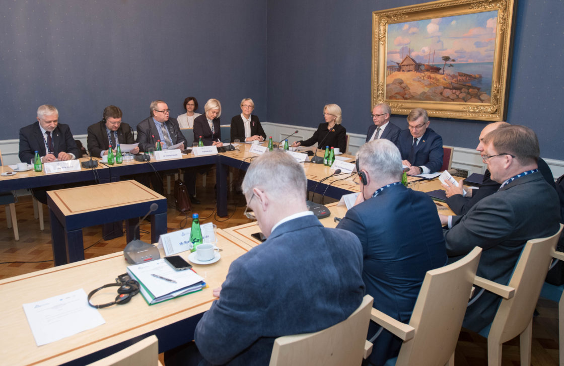 Balti Assamblee Presiidiumi ja riikide parlamentide spiikrite kohtumine