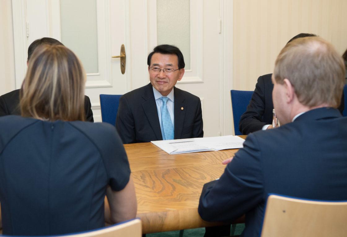 Kohtumine Korea Rahvusassamblee väliskomisjoniga