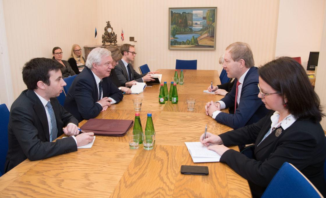 Väliskomisjoni esimees Marko Mihkelson kohtus Ühendkuningriigi Euroopa Liidust lahkumise ministri David Davisega