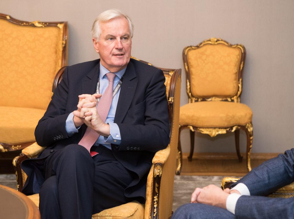 Riigikogu esimees Eiki Nestor ja väliskomisjoni esimees Marko Mihkelson kohtusid Brexiti kõneluste Euroopa Liidu pealäbirääkija Michel Barnier'ga