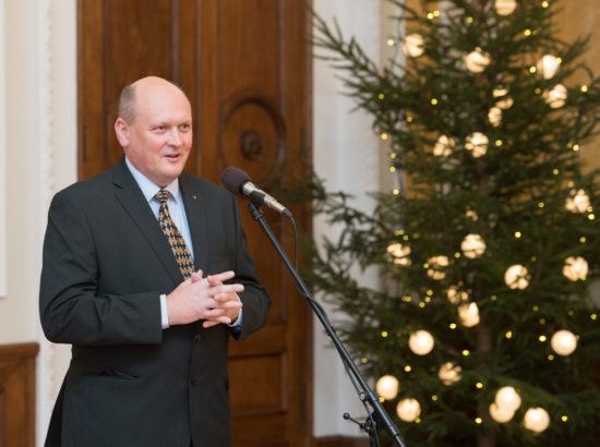 Riigikogu esimees tervitas külalisi Eesti kodanikuühiskonna arengukontseptiooni rakendamine (EKAK) vastuvõtul