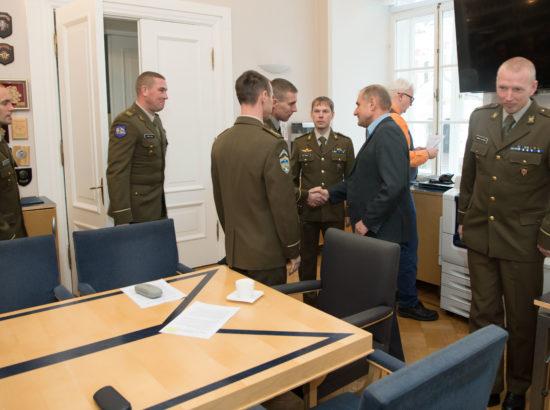 Riigikaitsekomisjoni liikmed kohtusid Kaitseväe Ühendatud Õppeasutuste Lahingukooli Vanemstaabiallohvitseride kursuse õppuritega