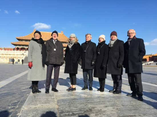 Riigikogu esimees Eiki Nestor on koos Põhja- ja Baltimaade kolleegidega visiidil Hiinas, Taevase rahu väljak