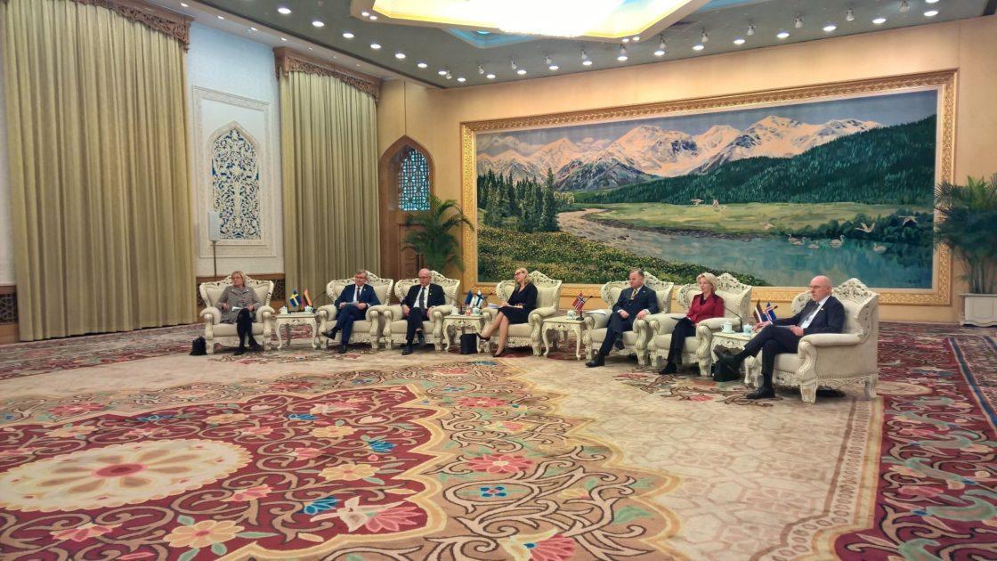 Eesti, Läti, Leedu, Soome, Rootsi, Norra ja Islandi parlamentide esimehed kohtuvad Hiina presidendi Xi Jinpingiga