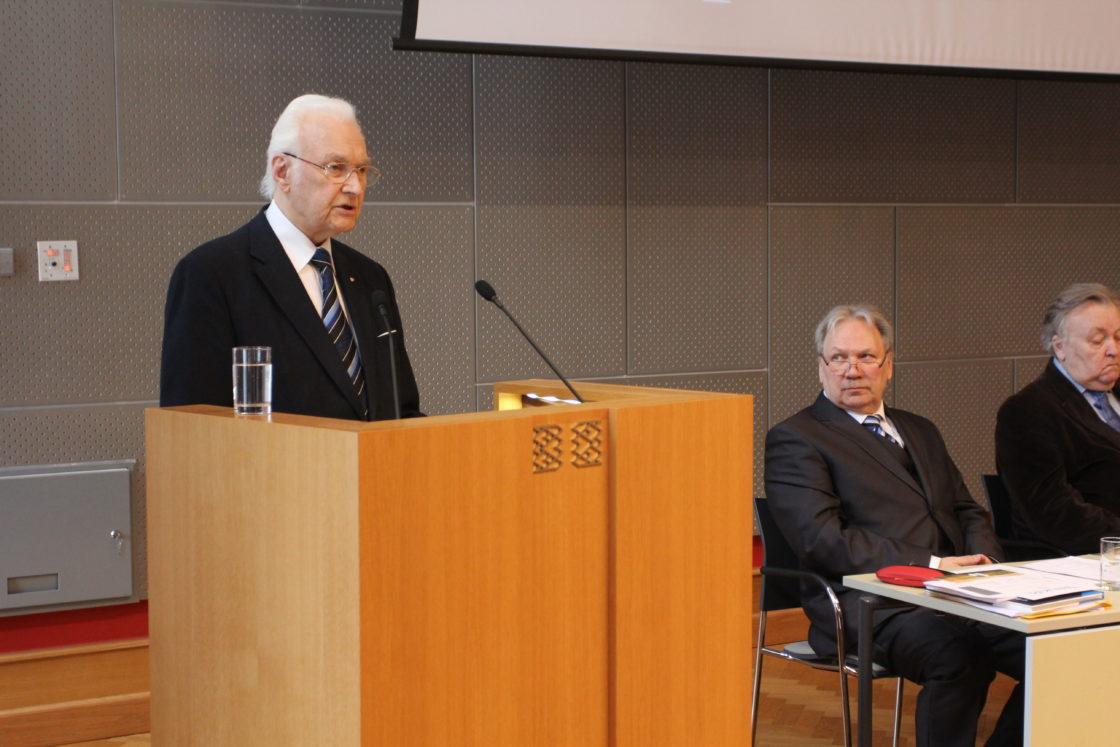 Tervituskõne pidas president Arnold Rüütel