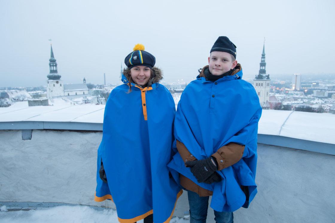 Veebruaris heiskavad Pika Hermanni tornis lipu noorkotkad ja kodutütred