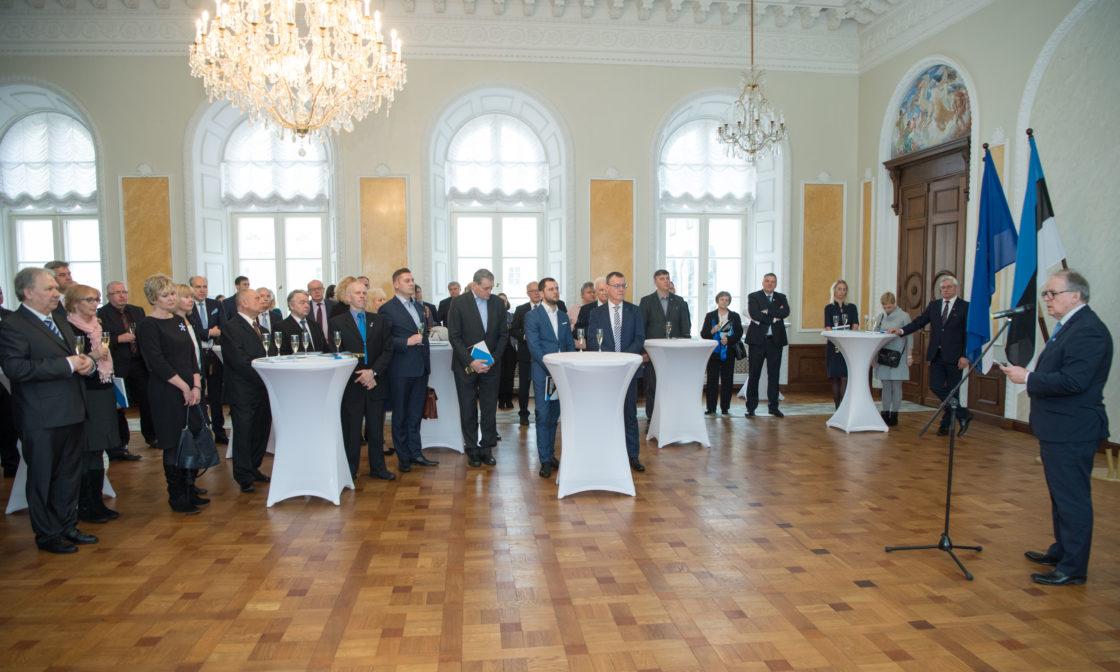 Riigikogu juhatuse vastuvõtul kõneles Riigikogu aseesimees Enn Eesmaa.