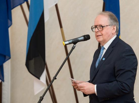 Riigikogu juhatuse vastuvõtul kõneles Riigikogu aseesimees Enn Eesmaa
