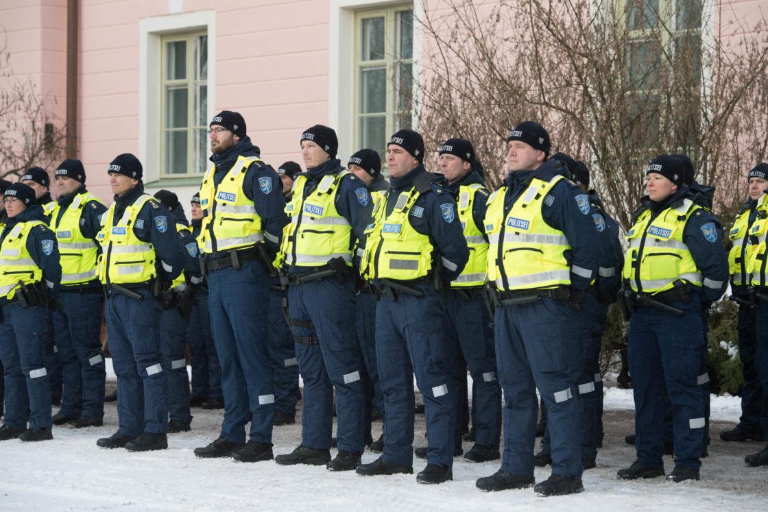 Riigikogu aseesimees Enn Eesmaa osales EV100 raames toimuval Politsei- ja Piirivalveameti Põhja prefektuuri pidulikul rivistusel Kuberneri aias