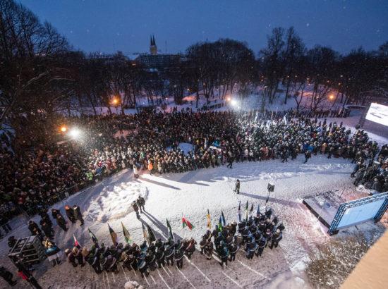 Eesti Vabariigi 100. aastapäeva lipuheiskamise tseremoonia