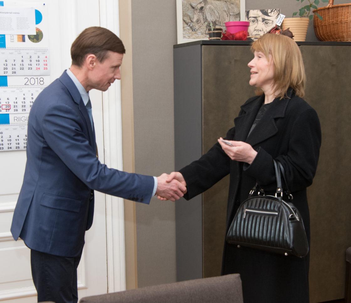 Riigieelarve kontrolli erikomisjoni esimees Aivar Sõerd kohtus Tšehhi suursaadiku Gabriela Tománkovága