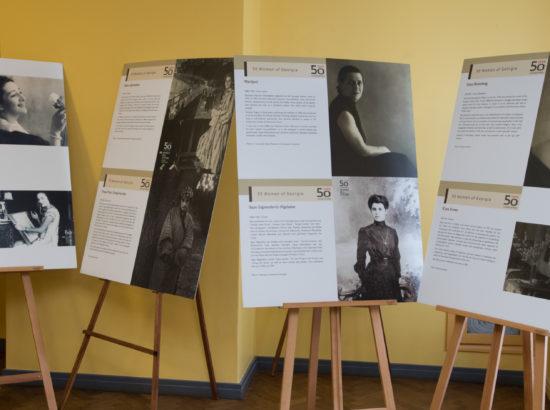 """Georgia saatkonna fotonäituse """"50 Georgia naist"""" avamine"""