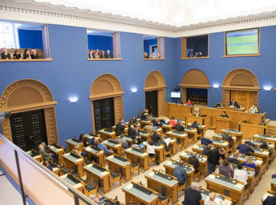 """Täiskogu istung, olulise tähtsusega riikliku küsimuse """"Eesti keel kui riiklik taristu"""" arutelu"""