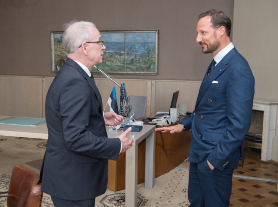 Riigikogu esimees Eiki Nestor kohtus Norra kroonprints Haakoniga