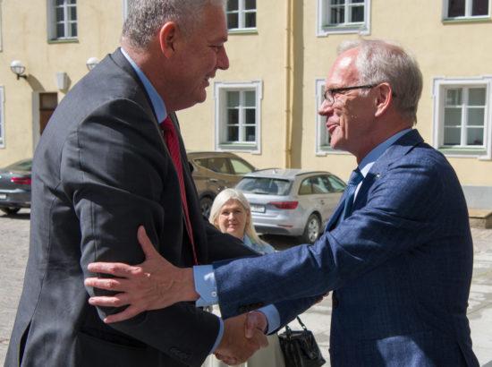 Riigikogu esimees Eiki Nestor kohtus St Lucia peaministriga Allen Chastanet'iga