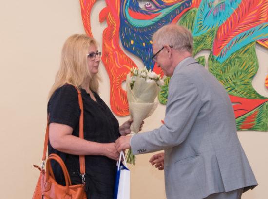 """Kunstnik Maria-Kristiina Ulase isikunäituse """"Inimvigurid"""" avamine"""