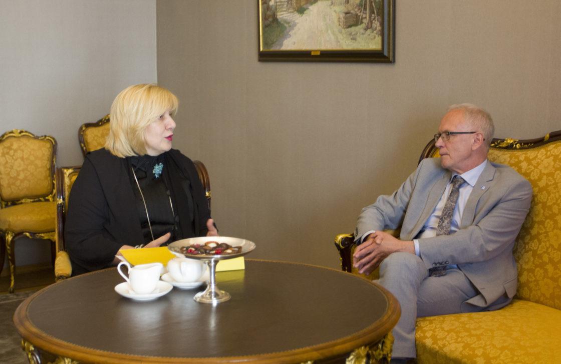 Riigikogu esimees Eiki Nestor, Euroopa Nõukogu Parlamentaarse Assamblee (ENPA) Eesti delegatsioon ja Riigikogu liikmed kohtusid Euroopa Nõukogu inimõiguste voliniku Dunja Mijatovićiga