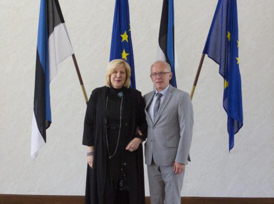Riigikogu esimees Eiki Nestor, ENPA Eesti delegatsioon ja Riigikogu liikmed kohtusid Euroopa Nõukogu inimõiguste voliniku Dunja Mijatovićiga