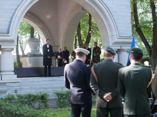 Riigikogu esimees Eiki Nestor osales võidupühaga seotud sündmustel Tallinnas
