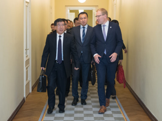 Kohtumine Hiina Poliitilise Konsultatiivkomitee (CPPCC) väliskomisjoni delegatsiooniga