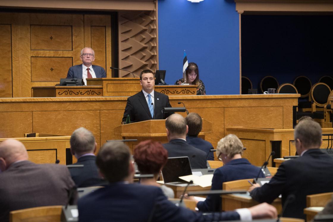 Peaminister esines Riigikogu ees poliitilise avaldusega