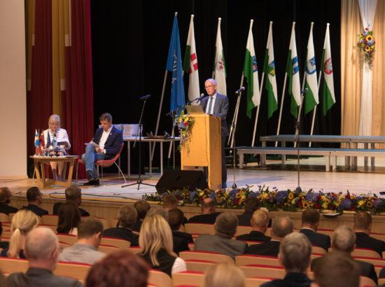 Riigikogu esimees Eiki Nestor tegi ettekande Eesti III omavalitsuspäeval