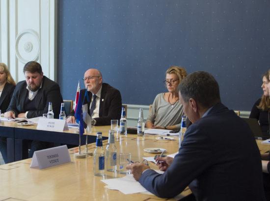 Euroopa Liidu asjade komisjoni esimees Toomas Vitsut võõrustad Läti, Leedu ja Poola kolleege