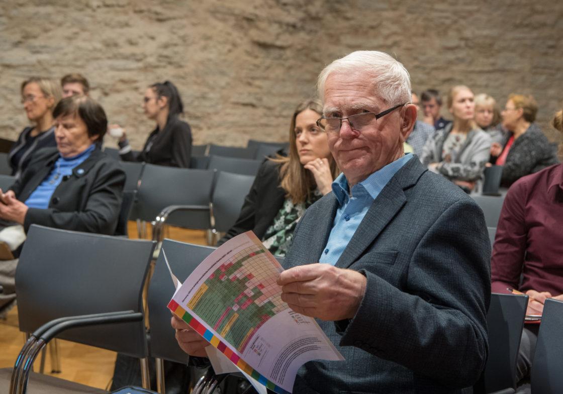 Riigikogu esimees Eiki Nestor ütles avasõnad foorumil Säästva Arengu Foorum 2018