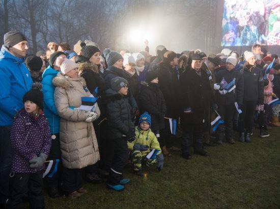Eesti Vabariigi aastapäeva lipuheiskamise tseremoonia