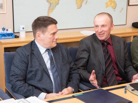 Riigikaitsekomisjoni esimehe ja aseesimehe valimised. Alar Laneman ja Leo Kunnas.