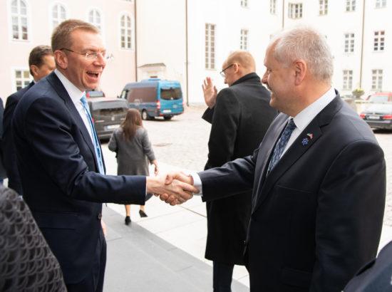 Riigikogu esimees Henn Põlluaas kohtus Läti Vabariigi presidendi Raimonds Vējonisega