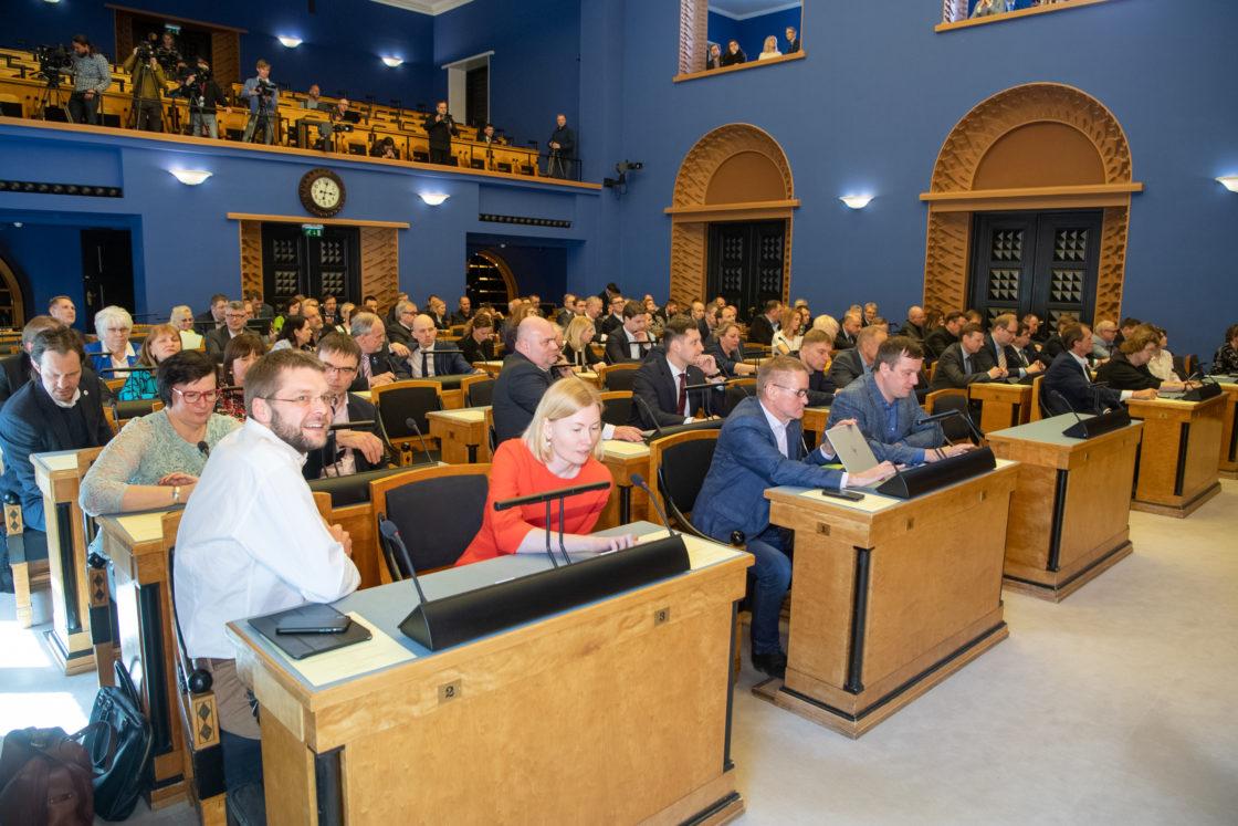 Täiskogu istung, peaministrikandidaadi Kaja Kallase ettekanne