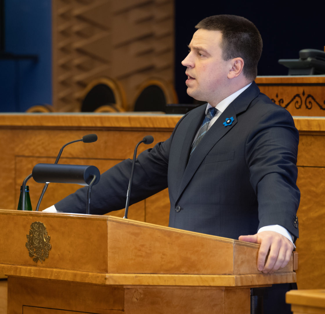 Täiskogu istung, peaministrikandidaadi Jüri Ratase ettekanne